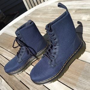 Dr Martens new Comp boots in blue fits men's 7.5